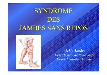 SYNDROME DES JAMBES SANS REPOS - sofomec