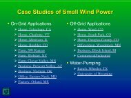 Case Studies of Small Wind Power