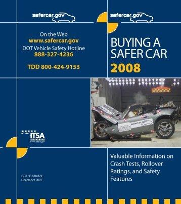 Buying a Safer Car 2008 - SaferCar.gov