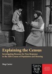 Explaining the Census - The Swinburne Institute for Social Research