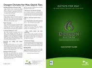 Dragon Dictate for Mac Quick Tips - VocaLinks