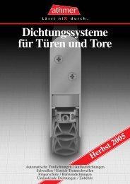 Dichtungssysteme für Türen und Tore