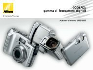 COOLPIX: gamma di fotocamere digitali - Nital.it