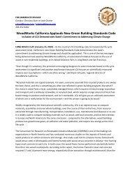 WoodWorks California Applauds New Green Building Standards Code