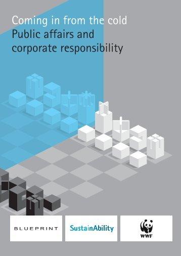 Public affairs and corporate responsibility - WWF UK
