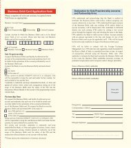 Business Debit Card Application Form - HSBC