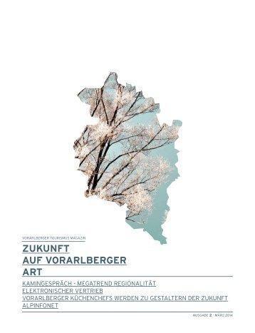 """Tourismusmagazin """"Zukunft auf Vorarlberger Art"""""""