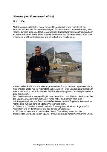 Gibraltar (von Europa nach Afrika)