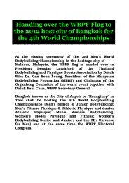 Handing over the WBPF Flag to the 2012 host city of ... - ABBF