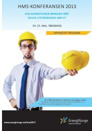 Last ned programmet i PDF versjon her - Energi Norge