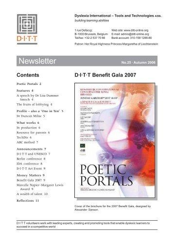 Autumn 2006 - Dyslexia International