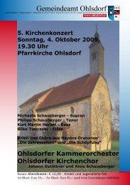 Programm - Gemeinde Ohlsdorf