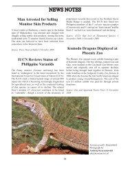 NEWS NOTES - International Varanid Interest Group