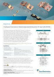 Nebenwiderstände nach DIN 43703 - Crompton Instruments