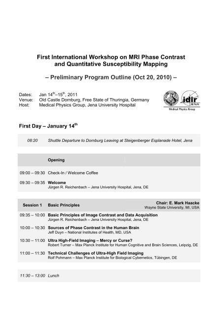 QSM Workshop 2011 - Medical Physics Group