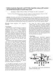 Studies on plasma diagnostics and ITO film deposition