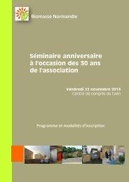 Programme - Biomasse Normandie