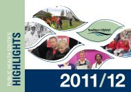 PHS Annual Highlights 2012 - Southern District Health Board