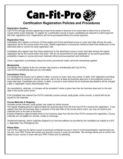 Certification Registratio