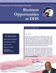 DHS Business Opportunities - July Newsletter - Committee on ...