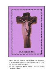 Dieses Heft mit Gebeten und Bildern zum Kreuzweg in unserer ...