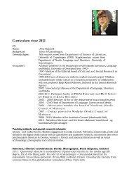 CV og publikationer - Ilisimatusarfik