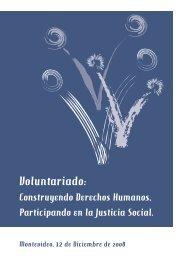 Voluntariado: Construyendo Derechos Humanos, Participando en la ...