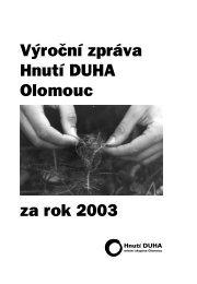 Výroční zpráva 2003 ke stažení (pdf). - Hnutí DUHA