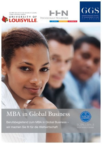 Broschüre MBA in Global Business - Ggs