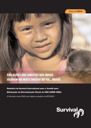 violações dos direitos dos índios guarani no mato grosso do sul, brasil