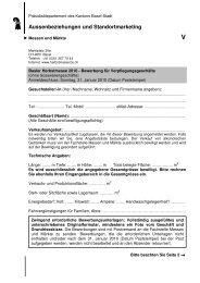 Bewerbung für Verpflegungsgeschäfte 2010 - Messen und Märkte ...