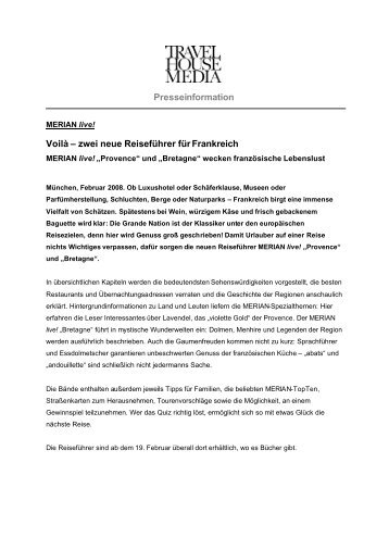 PM MERIAN live! Provence und Bretagne