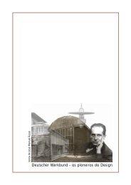 Deutscher Werkbund - Home Page de José Manuel Russo