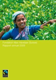 Fondation Max Havelaar (Suisse) Rapport annuel 2009