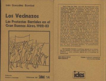 Ediciones del IDES Nº 14, Los vecinazos.