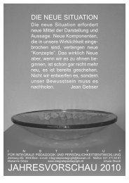 jahresplakat 2010.qxp - Institut für integrale Pädagogik und ...