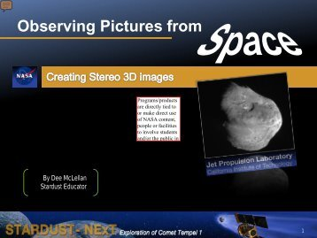 Observing Pictures from - Stardust-NExT - NASA