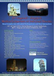 15th-16th April 2010, Clinical Research Center Auditorium, MD11 ...