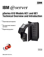 IBM pSeries 610 Models 6C1 and 6E1 Technical Overview and ...