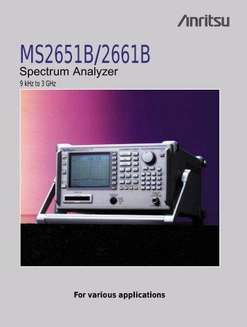 MS2651B/2661B - UPC