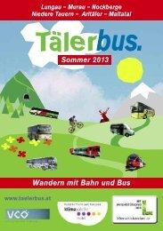 Broschüre zum Tälerbus - St. Michael