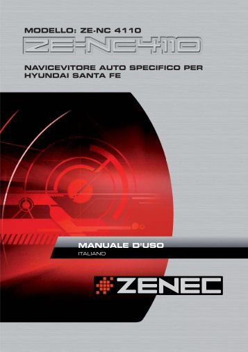 MODELLO: ZE-NC 4110 MANUALE D'USO - Zenec