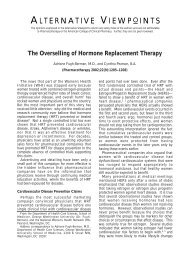 The Oversellling of Hormone Replacement Therapy - Adriane Fugh ...