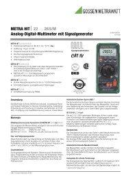 26S/M Analog-Digital-Multimeter mit ... - Gossen-Metrawatt
