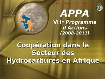 VIIè Programme d'Actions de l'APPA (2008-2011) - Unctad XI