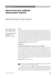 güncel kılavuzlar eşliğinde hipertansiyon tedavisi / treatment of