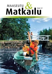 MaaseutuMatkailu kesä 2007 - Maaseutupolitiikka