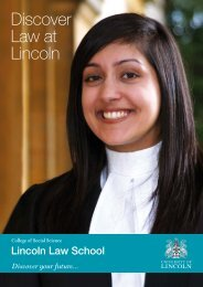 Lincoln Law School Magazine (PDF) - University of Lincoln