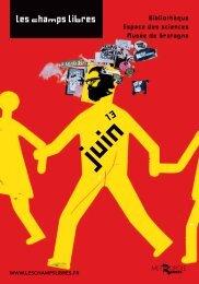 le programme de juin 2013 au format PDF - Les Champs Libres