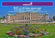 B E Č • 3, 4 ili 5 dana • januar–mart AVIO PREVOZ + ... - Wayout